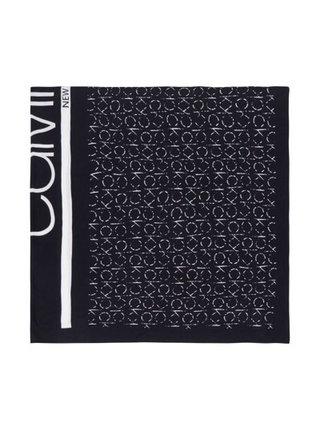 Calvin Klein černo-bílá šála Scarf RTW