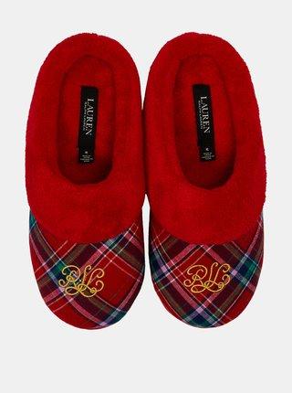 Červené dámské papuče Lauren Ralph Lauren