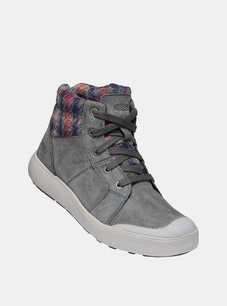 Šedé dámské kožené zimní boty Keen