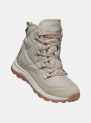 Béžové dámské zimné topánky Keen
