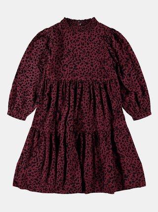Vínové holčičí vzorované šaty name it