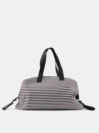 Bielo-čierna pruhovaná prebaľovacia taška Mama.licious