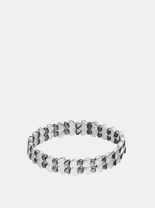 Náramek ve stříbrné a černé barvě Tamaris