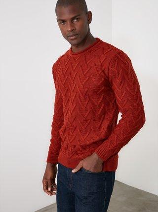 Červený pánský svetr Trendyol