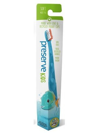 Preserve Dětský zubní kartáček (soft) - azurový
