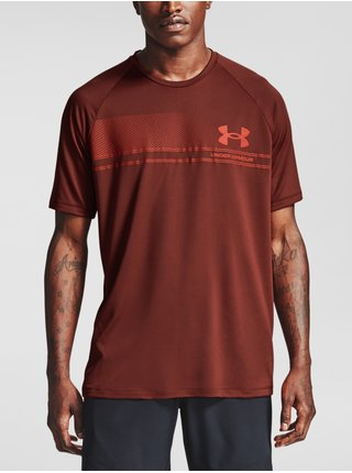 Tričko Under Armour LOGO WORDMARK TECH SS-RED