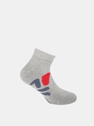 Sada tří párů šedých dámských kotníkových ponožek FILA