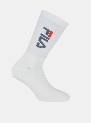 Sada troch párov dámskych bielych ponožiek FILA