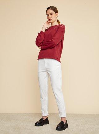 Pantaloni chino pentru femei ZOOT Baseline - alb