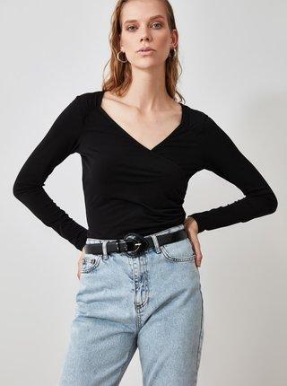 Čierne dámske tričko Trendyol