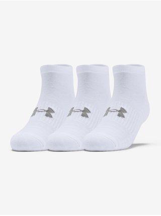 Ponožky Under Armour Training Cotton Locut-WHT