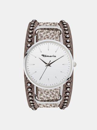 Dámske hodinky s hnedým remienkom Tamaris