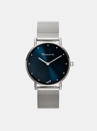 Dámske hodinky s kovovým remienkom v striebornej farbe Tamaris