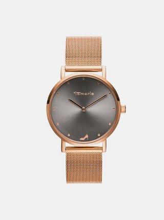 Dámske hodinky s kovovým remienkom v zlatej farbe Tamaris