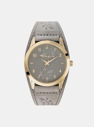 Dámske hodinky s šedým remienkom Tamaris