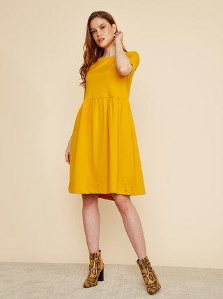 Žluté šaty s kapsami ZOOT Baseline Monika 2