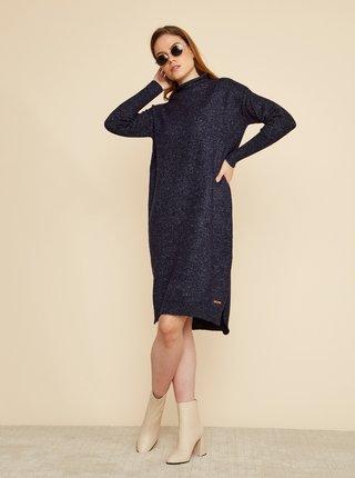 Tmavě modré svetrové šaty ZOOT Kitty