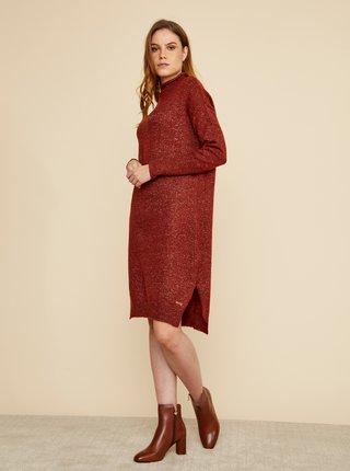 Vínové svetrové šaty ZOOT Kitty