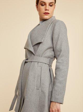 Šedý dámsky kabát s prímesou vlny ZOOT Timea