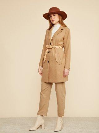 Béžový dámský kabát s příměsí vlny ZOOT Baseline Klara