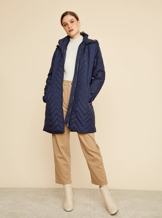 Tmavě modrý dámský prošívaný kabát ZOOT Baseline Molly