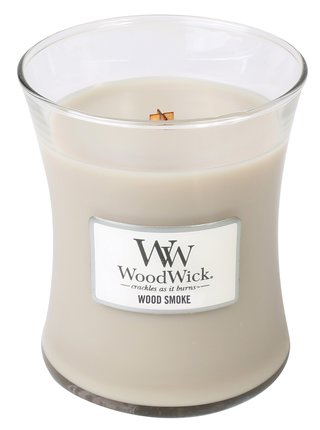 WoodWick vonná svíčka Wood Smoke střední váza