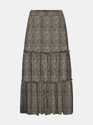 Béžová sukně s leopardím vzorem Noisy May Lesly