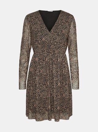 Béžové šaty s leopardím vzorem Noisy May Lesly