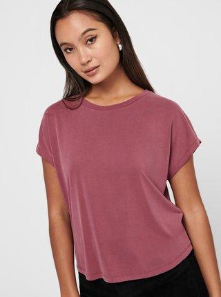 Ružové voľné tričko ONLY