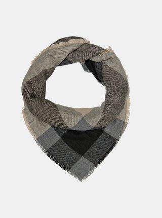 Tmavě šedý kostkovaný šátek ONLY