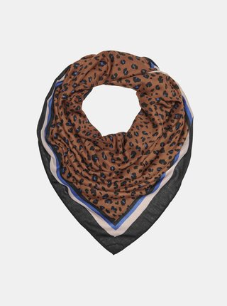 Hnědý vzorovaný šátek ONLY