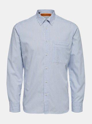 Modro-bílá košile Selected Homme