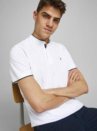 Biela polo košeľa so stojáčikom Jack & Jones