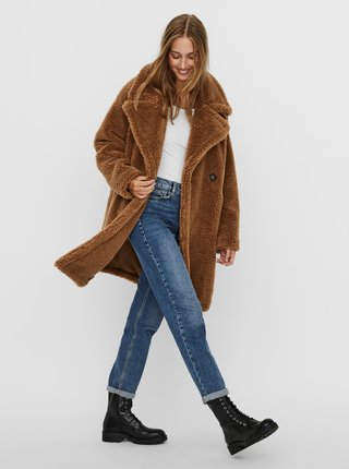 Hnedý kabát VERO MODA Lynne