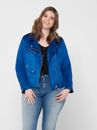 Modrá bunda v semišovej úprave ONLY CARMAKOMA