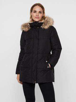 Černá zimní prošívaná bunda VERO MODA Finley