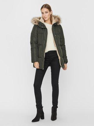 Khaki zimní prošívaná bunda VERO MODA Finley