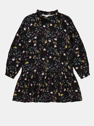 Čierne dievčenské kvetované šaty name it