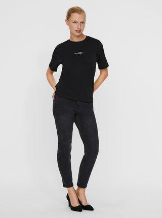 Čierne tričko AWARE by VERO MODA Magic