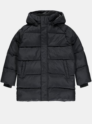 Čierne dievčenská zimná prešívaná bunda name it