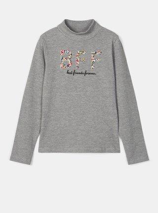 Šedé dievčenské tričko s potlačou name it