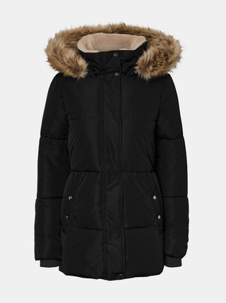 Čierna zimná prešívaná bunda VERO MODA CURVE Finley
