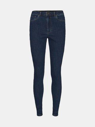 Modré skinny fit džíny VERO MODA CURVE Loa