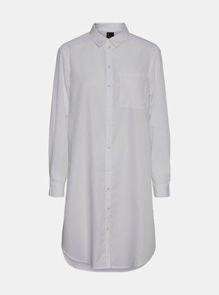 Biela dlhá košeľa VERO MODA Hella