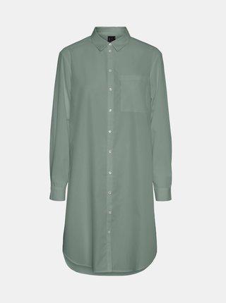 Zelená dlhá košeľa VERO MODA Hella
