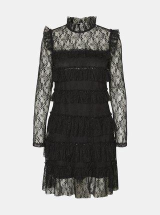 Černé krajkové šaty Noisy May Nadine
