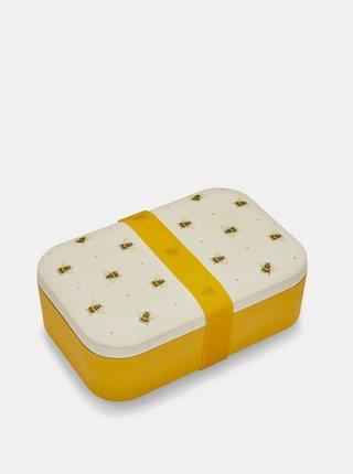 Žlto-krémová bambusová krabička na desiatu Cooksmart