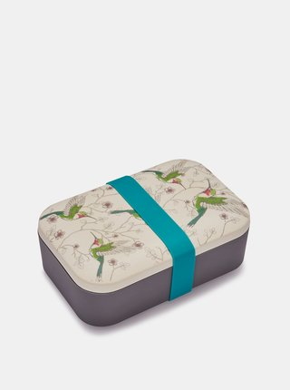 Krémovo-šedá bambusová krabička na svačinu Cooksmart