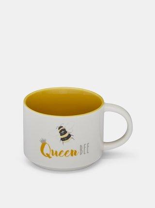 Bílý hrnek s nápisem Bee Queen Cooksmart