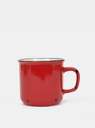 Červený porcelánový hrnek Dakls 440 ml